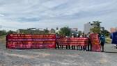 Khách hàng biểu tình kêu cứu tại dự án ma phường Cát Lài của công ty Bảo Long