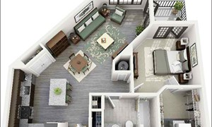 10 mẫu căn hộ cho người độc thân hoặc vợ chồng trẻ