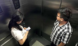 6 lưu ý để an toàn trong thang máy