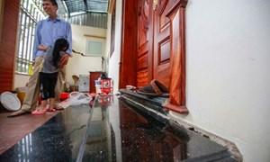Cận cảnh hàng chục biệt thự, nhà liền kề lún nứt, chờ sập ở Hà Nội