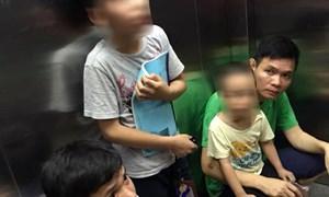 Cư dân chung cư CT2B Tân Tây Đô bị kẹt gần một tiếng trong thang máy