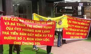 Hoàng Kim Land bị tố lừa đảo, bán trùng lô đất cho nhiều người