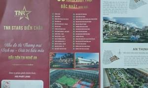 Khu đô thị cao cấp TNR Stars Diễn Châu: Dấu hiệu bất thường của một dự án khủng