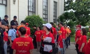 Video - Cư dân Lexington tố Novaland thất hứa, lại căng băng rôn đòi sổ hồng