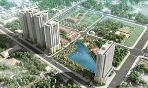 Khu đô thị bao gồm nhà liền kề, biệt thự, nhà cao tầng, nhà ở xã hội... dự kiến hoàn thành vào cuối quý II/2019.