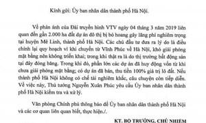 Vụ lãng phí 2000ha đất Mê Linh, Hà Nội: Thủ tướng yêu cầu kiểm tra, xử lý