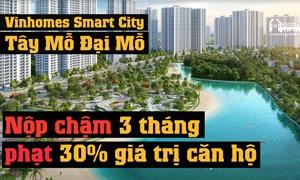 Người mua nhà Vinhomes Smart City bị giữ lại 30% giá trị căn hộ trong trường hợp nào?