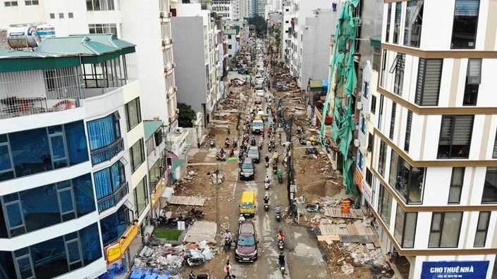 Hà Nội: Hơn 400 mét đường ì ạch thi công gần 3 năm chưa xong - 1