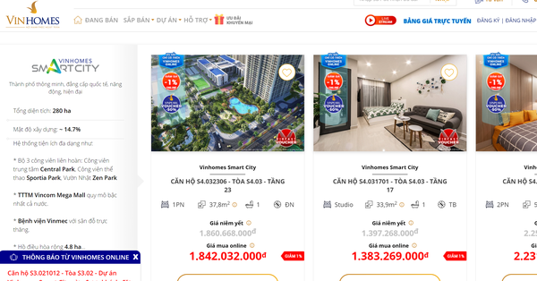Vinhomes bán 3.100 bất động sản qua kênh online sau hơn 3 tháng ra mắt - 1