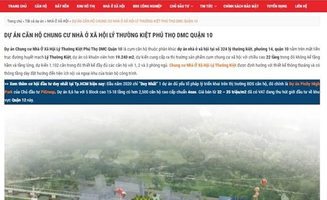 Không được CĐT ủy quyền phân phối, Danh Khôi Real vẫn ngang nhiên quảng cáo, giao dịch dự án NOXH Lý Thường Kiệt - 1
