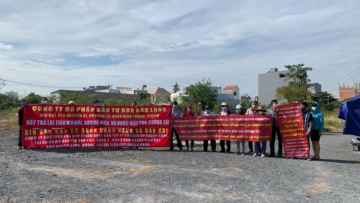 Khách hàng biểu tình kêu cứu tại dự án ma phường Cát Lài của công ty Bảo Long - 1
