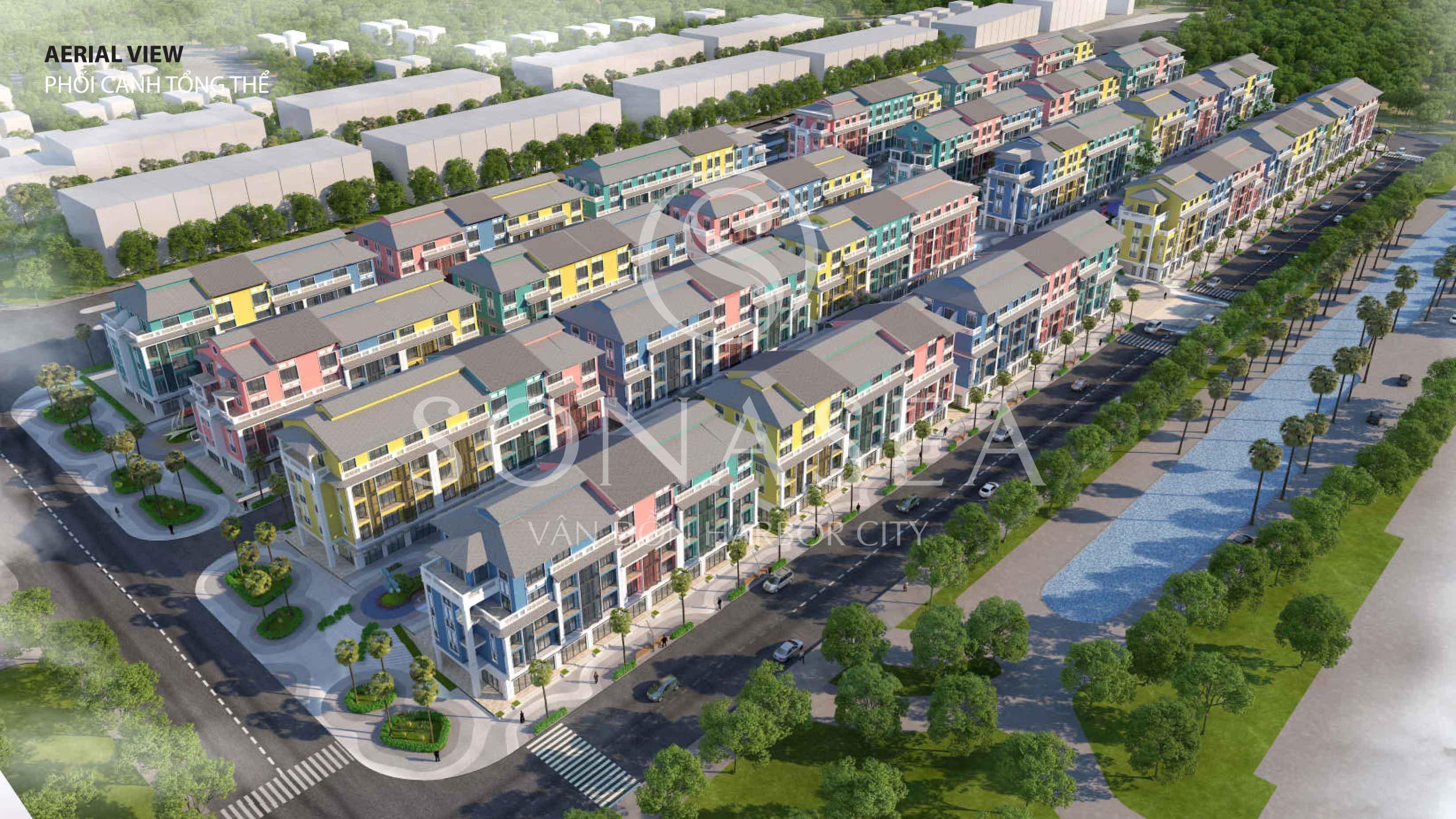 Sonasea Vân Đồn Harbor City phối cảnh khi hoàn thành(Ảnh CEO)