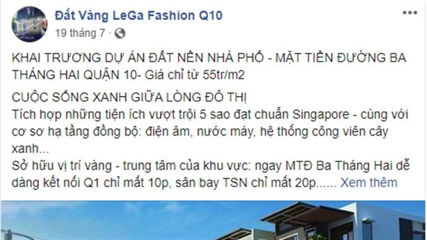 TP.HCM cảnh báo dự án 'ma' Lega Fashion - 1