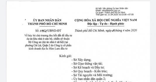 Dự án treo của Tập đoàn Him Lam bị hủy chủ trương đầu tư - 1
