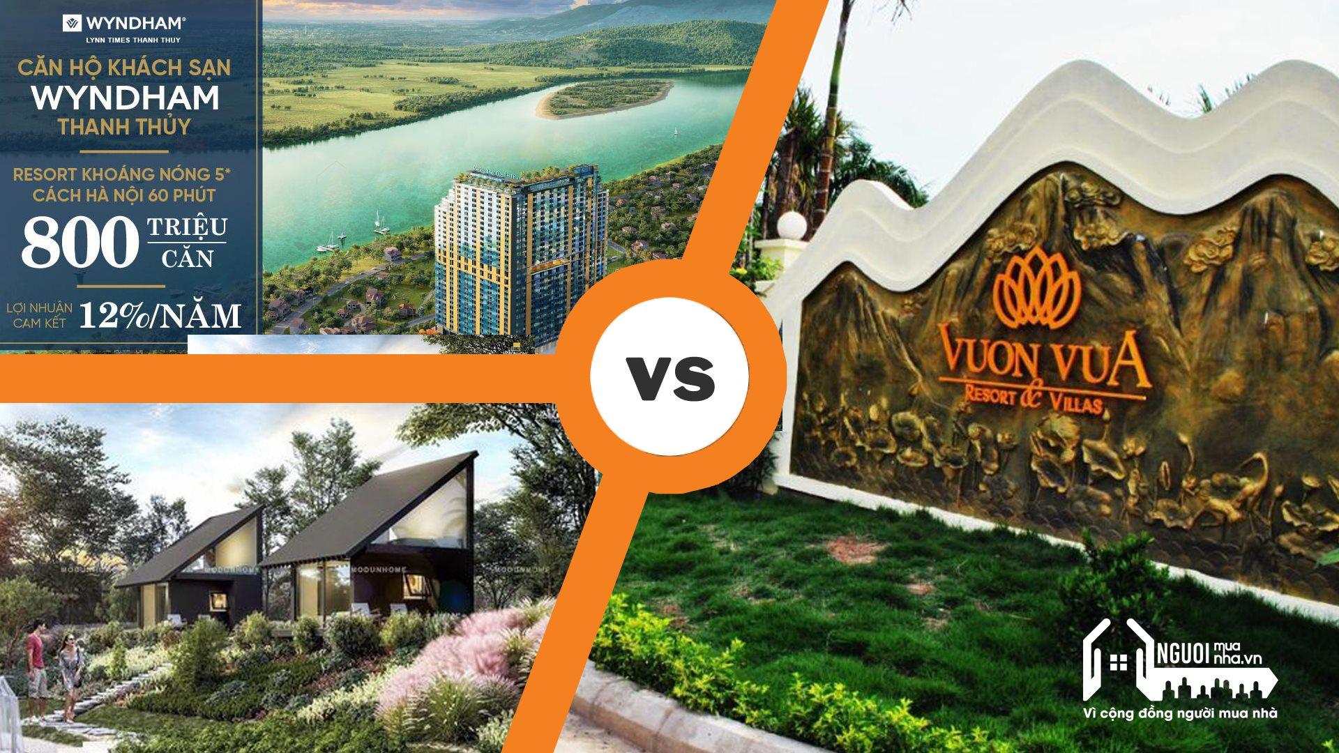 So sánh dự án Vườn Vua với một số dự án ven đô khác  - 1