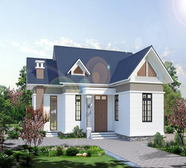 Mẫu số 7: Nhà 2 mặt tiền cũng được nhiều người ưa chuộng.Đây là mẫu nhà được thiết kế với 3 phòng ngủ, 1 phòng thờ, 1 phòng khách và 1 phòng bếp, 1 phòng sinh hoạt chung và 2 nhà vệ sinh.