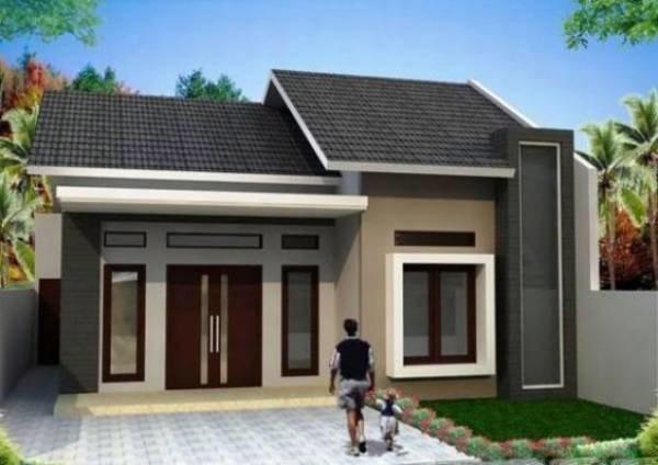 Mẫu số 5: Nhà mái ngói với phần buồng (nhà ngang) được xây dựng phổ biến ở vùng nông thôn bởi nó phù hợp với diện tích đất có chiều ngang rộng.