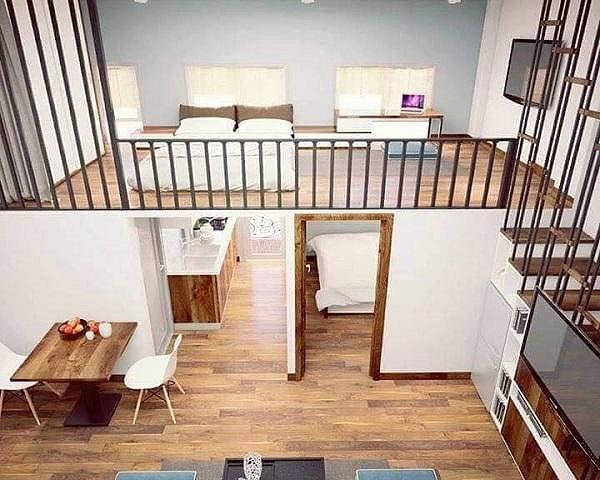 Nhà gác lửng cũng có thể tận dụng để xây dựng thành nhiều phòng ngủ cho các gia đình nhiều thế hệ.