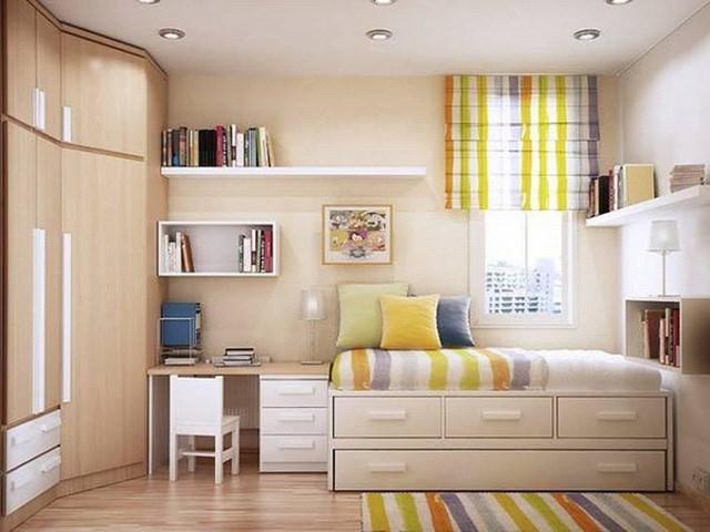 Cách thiết kế, bố trí phòng ngủ có diện tích nhỏ hẹp - Ảnh 3