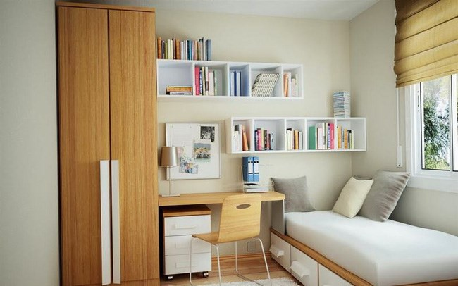Đối với những ngôi nhà có diện tích nhỏ thì tất cả yếu tố từ vị trí phòng ngủ, ánh sáng, đồ nội thất… đến vị trí giường ngủ nên tuân theo những nguyên tắc cụ thể để giúp phòng ngủ trở nên rộng rãi, thoải mái hơn.