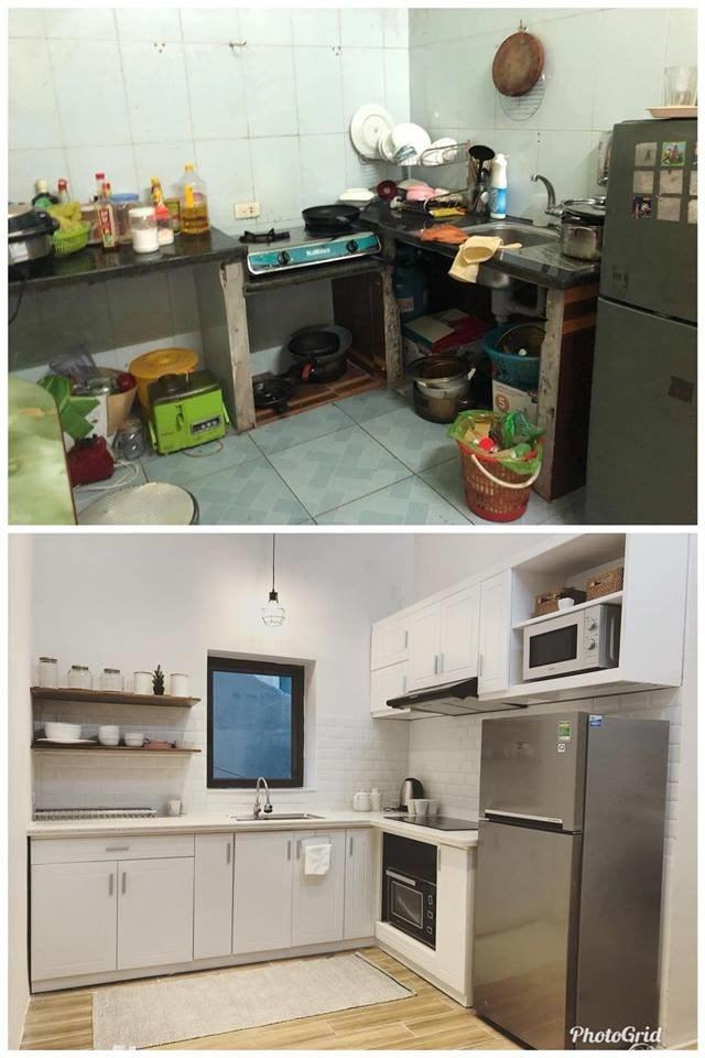 Nhà bếp được thay đổi