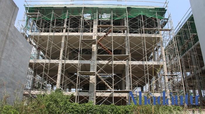Dự án Villa Park giai đoạn 2 hiện đã hoàn thành xong phần sườn của công trình. Ảnh: Chu Ký