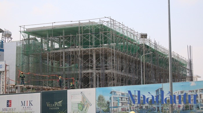 Dự án có tổng diện tích là 11,2 ha với 234 căn biệt thự đơn lập và song lập do CTCP Tập đoàn MIK Group Việt Nam làm chủ đầu tư. Ảnh: Chu Ký