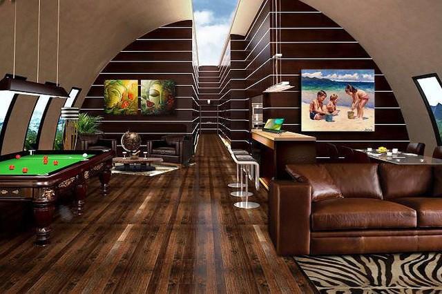 Mỗi phòng trú ẩn sẽ được chủ sở hữu trang trị nội thất với chi phí từ 25.000 USD đến 200.000 USD. Nơi cư trú riêng có thể được tùy chỉnh với màn hình LED tạo ảo giác, giếng trời và cửa sổ.