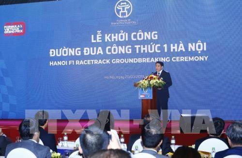 Chủ tịch UBND TP Hà Nội Nguyễn Đức Chung phát biểu. Ảnh: Lâm Khánh – TTXVN