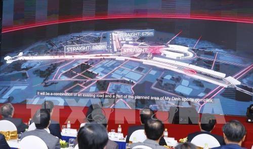 Đường đua công thức 1 tại Hà Nội được thiết kế trên cơ sở hạ tầng hiện tại của Khu liên hợp thể thao quốc gia Mỹ Đình và khu vực lân cận. Ảnh: Lâm Khánh – TTXVN