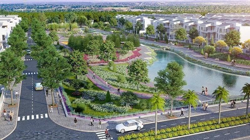 Phối cảnh dự án khu đô thị New City (Phố Nối, Hưng Yên) do Công ty CP bất động sản Thăng Long làm chủ đầu tư.