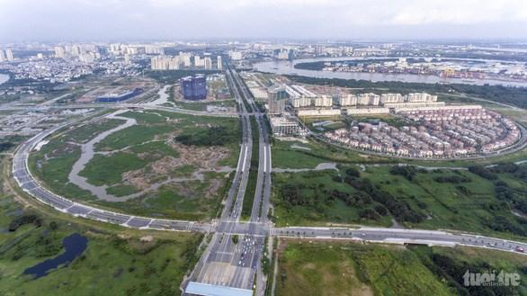 Một góc khu đô thị mới Thủ Thiêm - Ảnh: NAM TRẦN