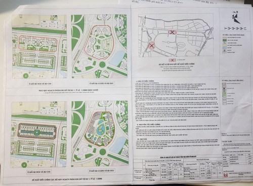 Vị trí và bản vẽ các ô đất đề xuất điều chỉnh.