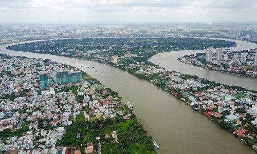 Bán đảo Thanh Đa, quận Bình Thạnh, TP HCM. Ảnh:Quỳnh Trần