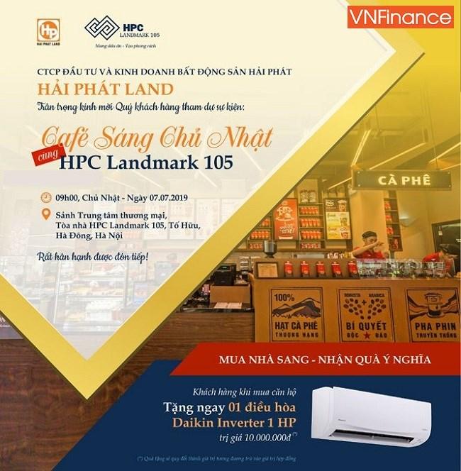 Theo chính sách bán hàng mới được CĐT đưa ra, khi khách hàng mua căn hộ thuộc dự án HPC Landmark 105 sẽ được hưởng mức chiết khấu ưu đãi lên tới 10%