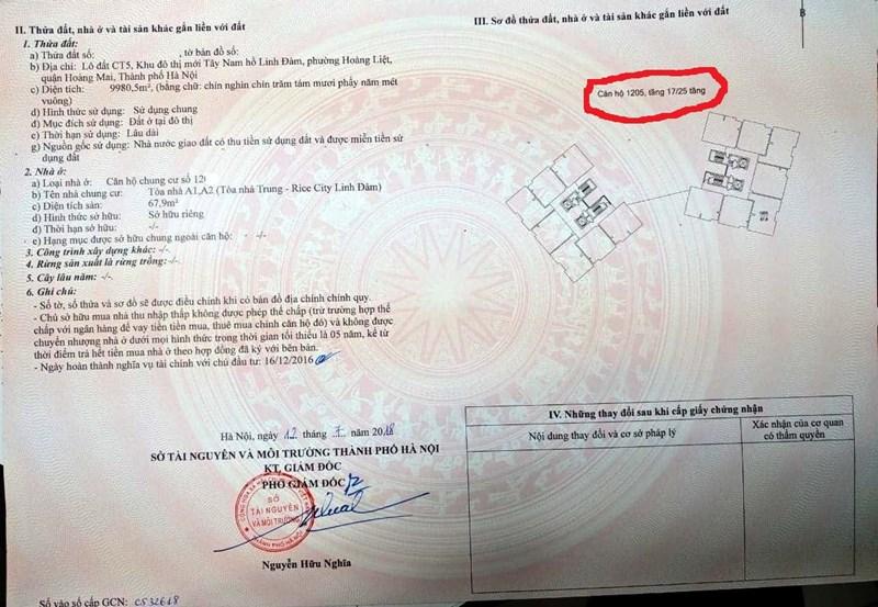 """Chuyện hi hữu ở Hà Nội khi nhà tầng 12 """"sổ đỏ"""" tầng 17 (ảnh: PL)"""