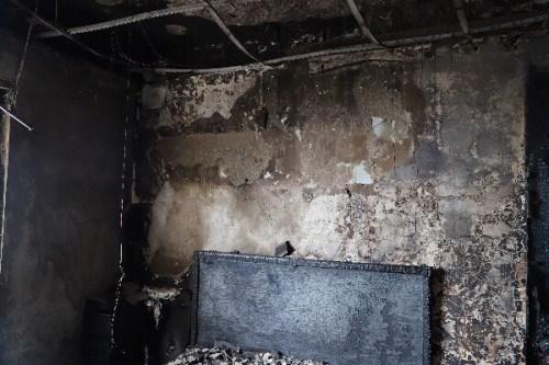 Hiện trường xảy ra vụ hỏa hoạn tại chung cư The Pride.