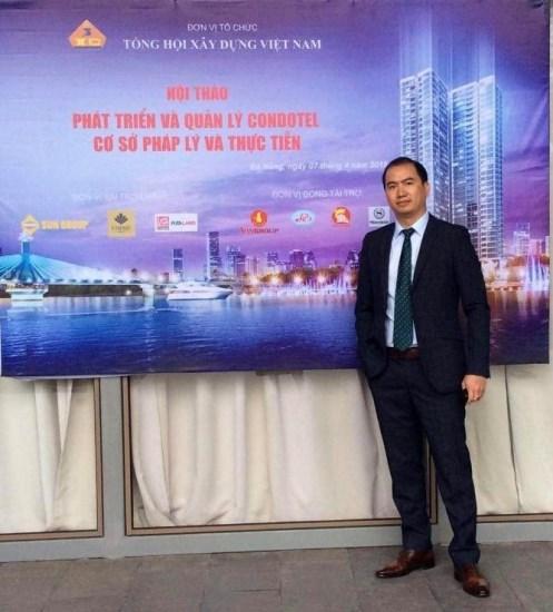 LS Trương Anh Túbên lề Hội thảo Phát triển và quản lý Condotel - cơ sở pháp lý và thực tiễn tại Đà Nẵng năm 2018.