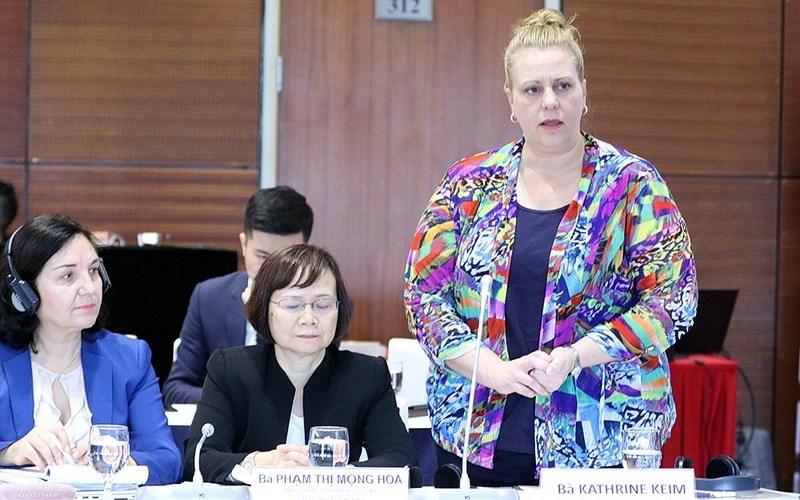 Bà Kathrine Keim, đại diện Ngân hàng Thế giới (WB) tại Hà Nội