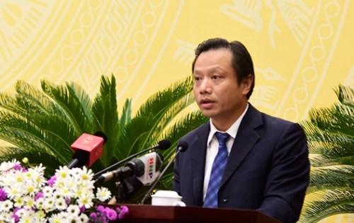 Giám đốc Sở QH&KT Nguyễn Trúc Anh báo cáo kết quả công tác quy hoạch trên địa bàn thành phố. Ảnh: Phúc Nguyên