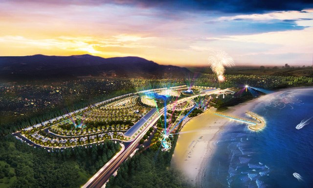 AE Resort Cửa Tùng, Quảng Trị là phức hợp giải trí và nghỉ dưỡng, sở hữu chiều dài mặt biển lên đến 1.2 km, có quy mô hơn 36 ha với tổng vốn đầu tư gần 2,000 tỷ đồng của tập đoàn AE sắp khởi công đầu năm 2019.