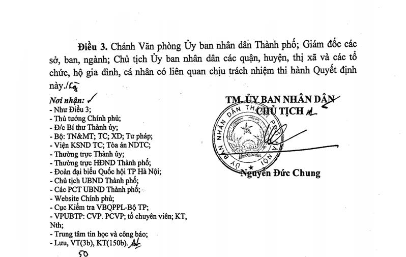 Quyết định quyết định về việc ban hành quy định và bảng giá các loại đất trên địa bàn thành phố Hà Nội.