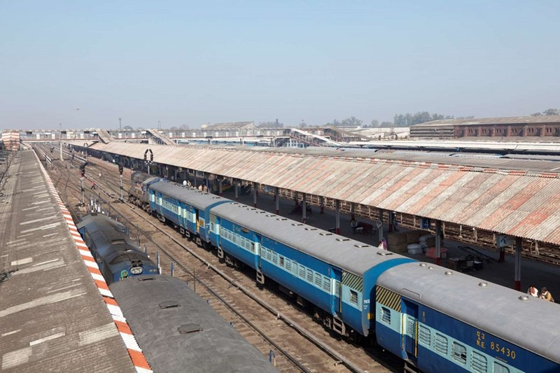 Ga đường sắt dài nhất - Gorakhpur junction tại Uttar Pradesh, Ấn Độ, dài 1366,33m