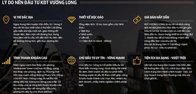 Lí do để mua dự án đô thị mới Vương Long, Vân Đồn là gì? - Ảnh 1