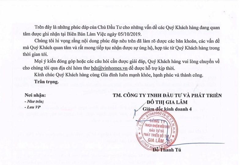 VinGroup có văn bản trả lời chính thức, người mua nhà Vinhomes Ocean Park vẫn bất bình - Ảnh 4