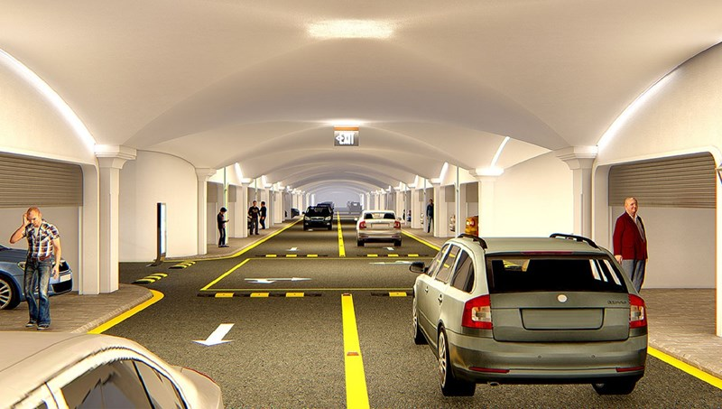 Hệ thống giao thông ngầm thông minh tạiSunshine Mystery Villas được mô phỏng 3D.