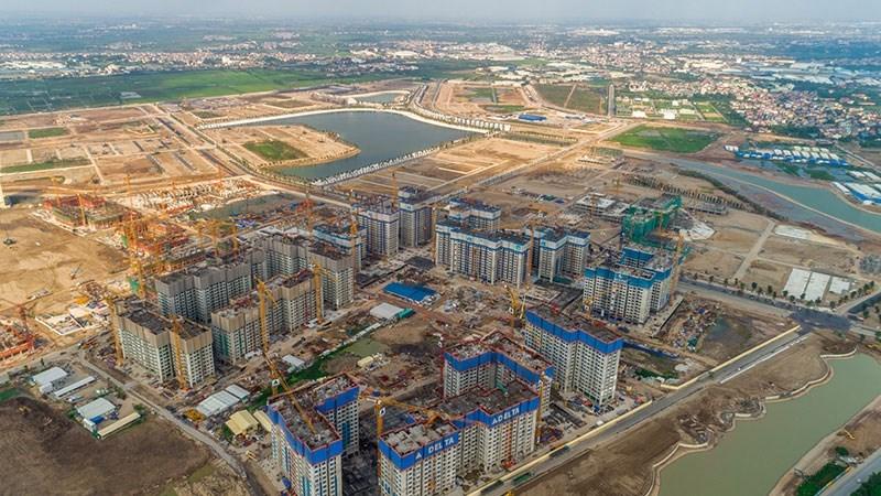 phân khu các tòa chung cư sapphire có mật độ xây dựng dày đặc