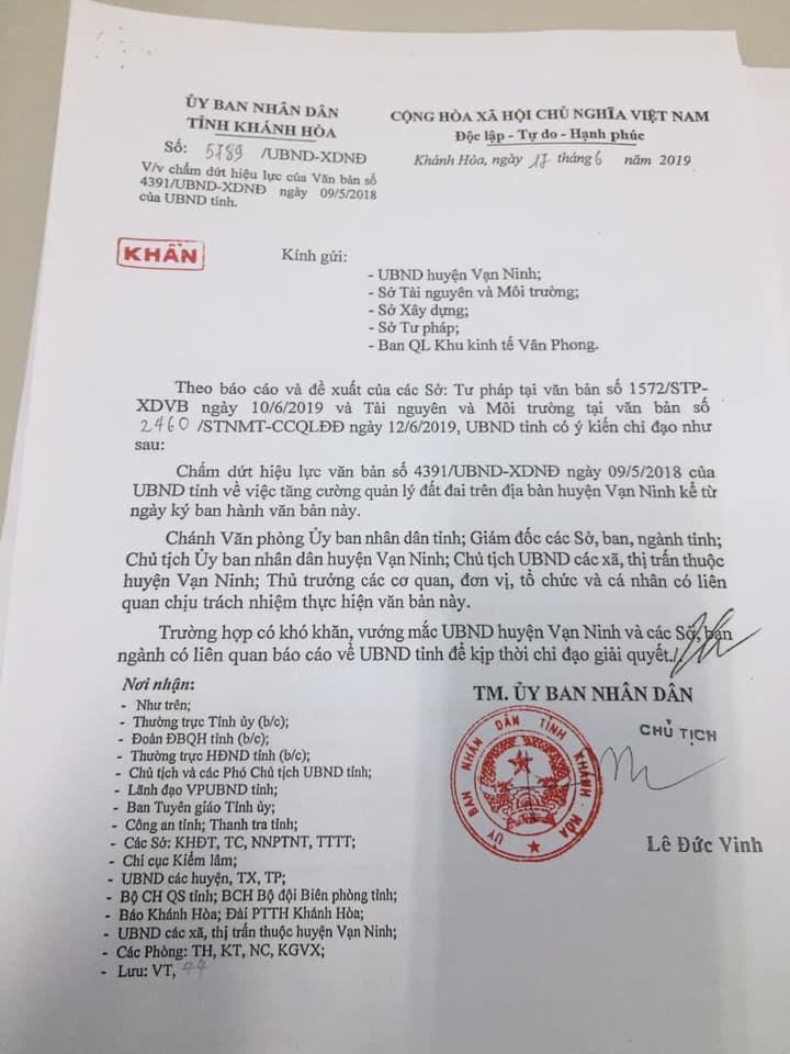 Huyện Vạn Ninh - Khánh Hòa: Cho phép giao dịch nhà đất trở lại - Ảnh 1
