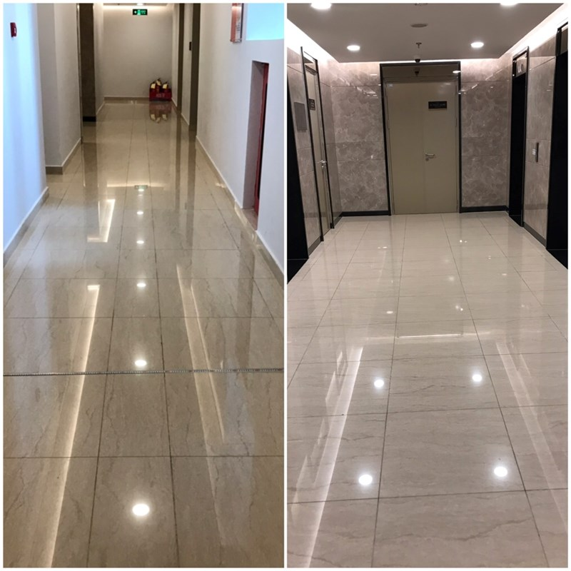 Hành lang tại chung cư Sun Grand City Ancora Residence của tập đoàn Sun Group. Có vẻ các ông lớn không thích xây hành lang rông chăng?