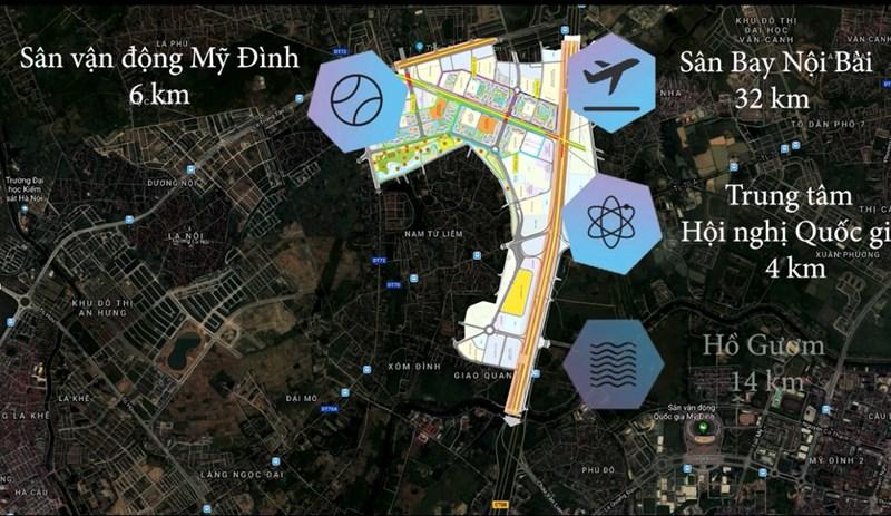Dựa theo vị trí dự án tuyến giao thông chính mà cư dân của Vincity tham gia là Đại Lộ Thăng Long. Chiều đường hướng về trung tâm là khá gần và thuận lợi, chúng ta có thể thấy qua ảnh minh hoạ.